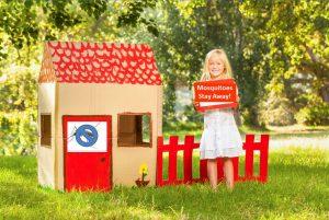 little girl no mosquitoesondoor