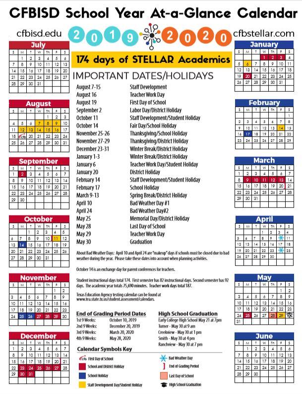 Cfbisd Calendar.Carrollton Isd School Calendar 2019 2020 Sureguard Termite Pest