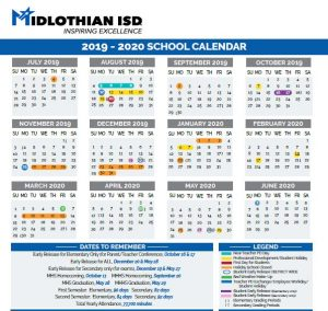 Midlothian School Calender 2019-2020
