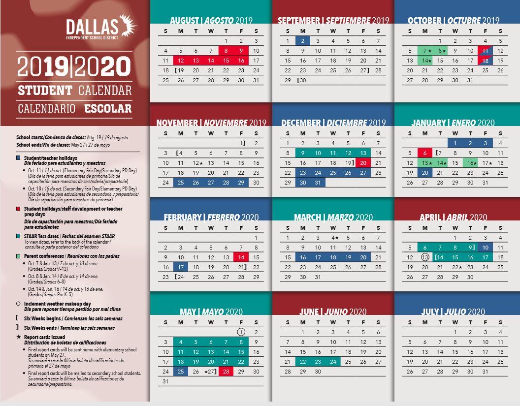 Dallas Isd Calendar 2022 23.Dallas Isd School Calendar 2019 2020 Sureguard Termite Pest Control